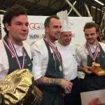 Emiel Kwekkeboom, Marco Geurts en Jules Wiringa (vlnr) winnen Gouden Koksmuts 2017